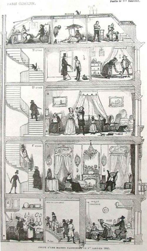 Parisian house, January 1st, 1843