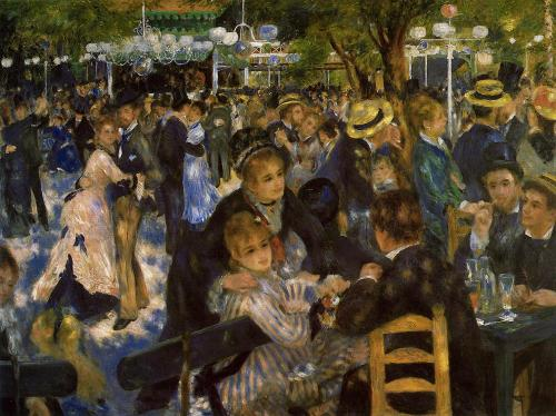 On fine Sunday afternoons, the outskirts of Paris offered cheaper refreshments and popular bals as this one painted by Renoir
