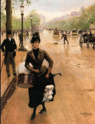The Milliner on the Champs Elysées by Jean Beraud