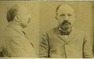 A mug shot of Michel Eyraud