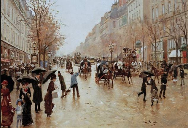 Boulevard Poisonière in the Rain