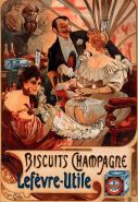 Biscuits to be served with champagne. A beautiful poster by Alphonse Mucha, 1896